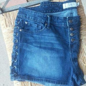 Torrid Laced Jean Shorts